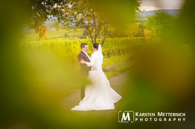 Hochzeit im Rheingau - diesmal tief in den Weinbergen