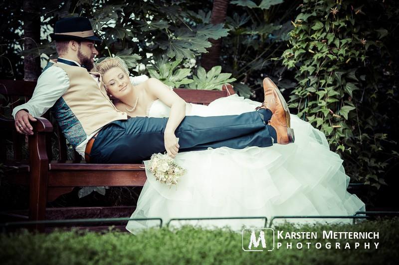 So entspannt kann ein After Wedding Shooting in der Wilhelma Stuttgart sein