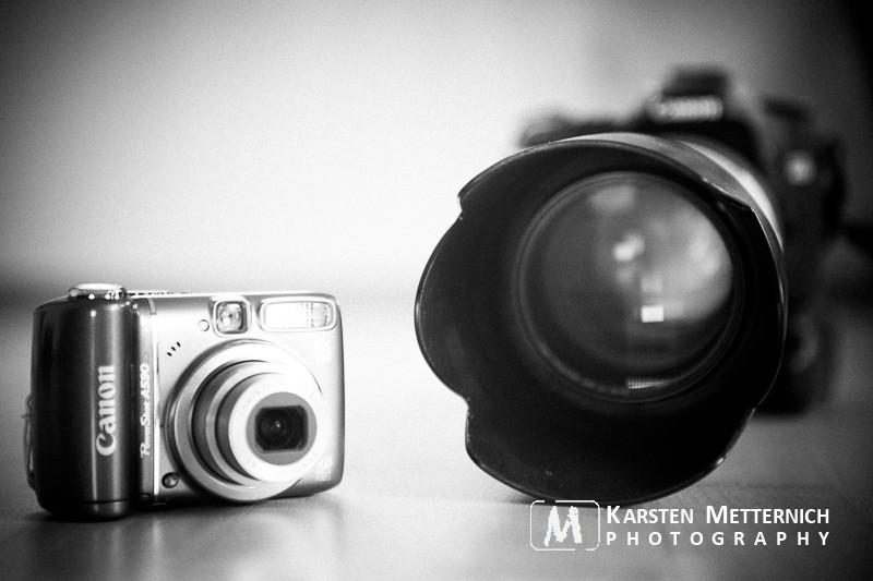 Spiegelreflex vs. Kompaktkamera