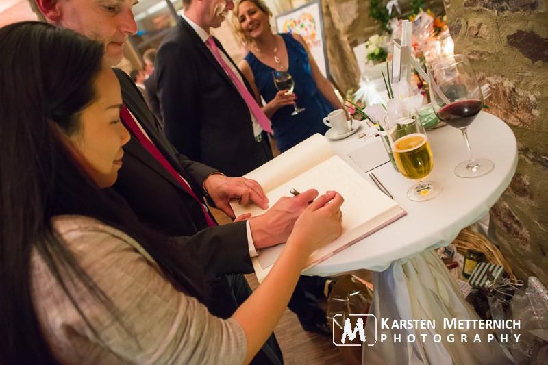 Gästebuch auf der Hochzeit