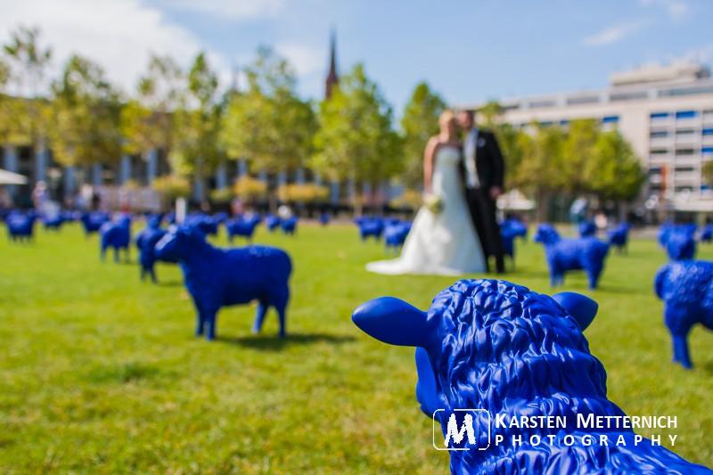 Heiraten mal anders - Blaue Schafe in Wiesbaden...
